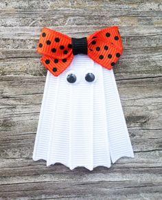 Ghost Ribbon Sculpture Hair Clip - Toddler Hair Bows - Girls Hair Accessories... Free Shipping Promo via Etsy