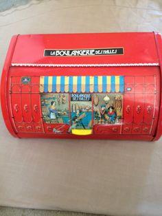 Vintage French Boulangerie Breadbox. .