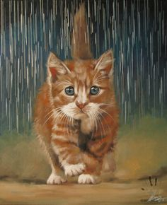 Kote Under the Rain by ilonaxxx.deviantart.com on @deviantART