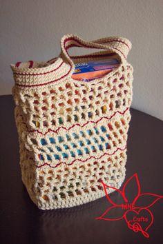 Zig-Zag Market Bag Crochet Pattern