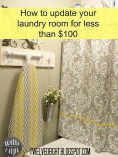 twelveOeight: How To Update Your Laundry Room For Less Than $100 {REVEAL DAY!}