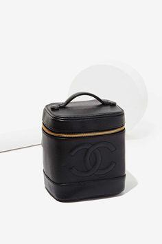 Vintage Chanel Black Caviar Vanity Case