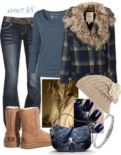 """""""Blue Plaid"""" by srose38 on Polyvore"""