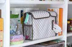 The new Pack n' Pull Caddy, patent pending syle, is the perfect way to keep plastic bags ready and organized!