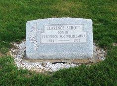 Tombstone Tuesday - Clarence Schott #genealogy #familyhistory