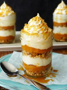 No-Bake Pumpkin Pie in a Jar is a great alternative to baking a pie on Thanksgiving! Cuter, too!