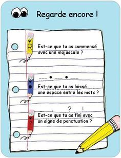 My French translation of this early writing poster.