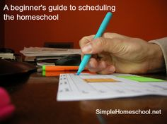 A beginner's guide to scheduling the homeschool