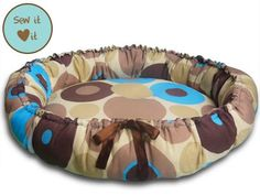 free pattern for dog bed | This bed's soft cushiony surface will be your pet's delight. The front ...