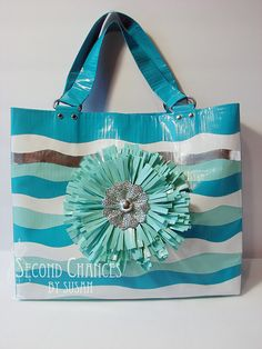 bag, duct tape flowers, duck tape diy crafts, duck tape purses