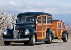 1940 Ford Woody with tear drop