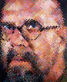 Chuck Close via Pace Prints