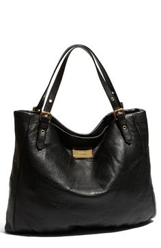 """Marc by Marc Jacobs """"Classic Q-Shopgirl"""" leather tote...ah, there she is.  The PERFECT black purse."""