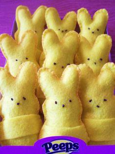Easter Gift Idea: Felt Peeps Bunnies.