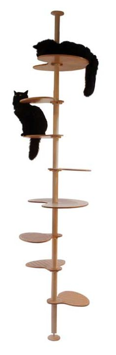 another cat tower based on ikea stolmen pole; more affordable than hollywood franklin