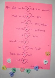 Sunday School Valentines Day Craft
