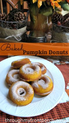 Baked-Pumpkin-Donuts-Fall | Through My Front Porch