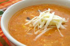 Chili's Chicken Enchilada Soup - Make your favorite Restaurant & Starbucks recipes at home with Replica Recipes!