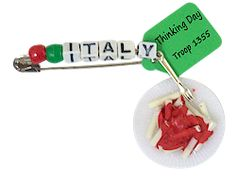 Girl Scout SWAP Italy Dish Kit perfect way to show your love for pasta also, great for Thinking Day. For complete kit supplies go to MakingFriends.com