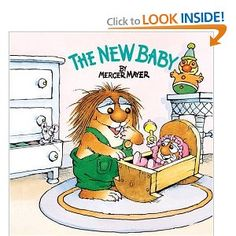 my favorite book that we got our oldest when we were pregnant with #2...now i read it to both of them! The New Baby. Little Critter books are so cute