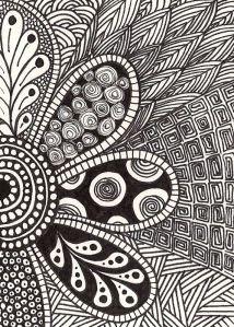 . art journaling inspiration | #doodle #zentangle