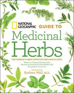 """""""National Geographic Guide to Medicinal Herbs : the world's most effective healing plants"""" Johnson, Foster, Dog & Kiefer  http://bit.ly/GZFYxr"""