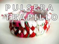Manualidades DIY - Pulsera trenzada con trapillo - YouTube
