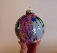 Hand Painted Glass Ornament.