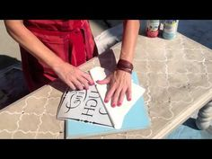 ▶ How To Use Vinyl Lettering As A Stencil - YouTube #uppercaseliving #ULvinyl #vinyllettering #livealifeinspired