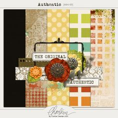 Authentic mini kit freebie from Charlize Creations