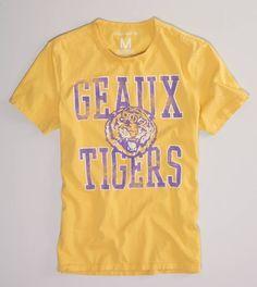 LSU Vintage Crew T- Geaux Tigers!