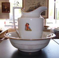 Napier England Wash Stand Pitcher and Bowl | eBay