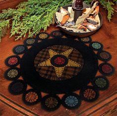 penny rugs, scrappi primit, wool applique, pennies, applique patterns