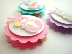 Easter Bunny Favor Bag Toppers idea, like the clothespin