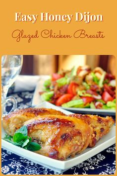 Honey Dijon Glazed Chicken Breasts - the simple marinade keeps the chicken breast so moist and tender. The marinade, which then does double duty as the brushed on glaze, is quite lightly flavored and does not overwhelm the natural flavor of the chicken.