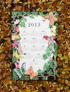 2013 Ode to Thumbelina giclee print wall calendar. $32.25, via Etsy.