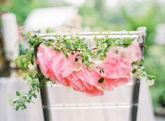TIssue Flower Chair Garland #pink @Camille Styles