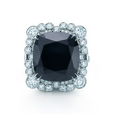 The Great Gatsby Collection ring of diamonds and an 8.20-carat black onyx.