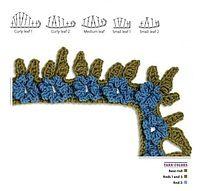 leaf crochet, pattern symbol, crochet borders, stitch, chart