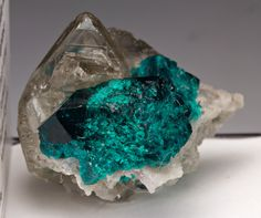 Cerussite with Dioptase