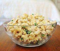 Macaroni Salad with tuna and peas