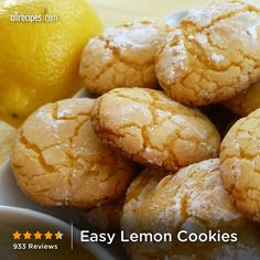 "Easy Lemon Cookies | ""I am typically a ""from scratch' baker but wanted something easy for today. This was super easy and delicious. Well done!"""
