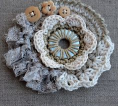 Freeform Crochet from Maire Pierre at her blog Le Petit Nuage de Marie (French blog, you can us Google Translate to read in another language)