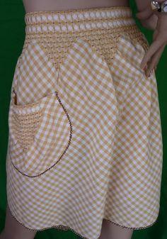 Detail...pin tucks, pocket...perfection.