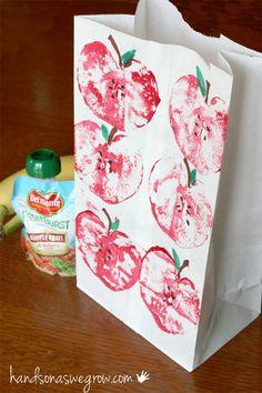 Apple Printing Lunch Sacks on Parents.com