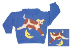 Dovetail Designs--Val Love--Cow Jumped Over the Moon to Knit (ages 2 - 14)