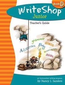 WriteShop Junior Book D home school writing program (grades 3-5)...makes writing fun! :)