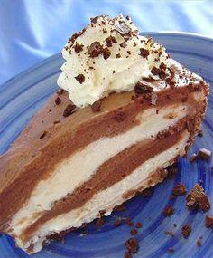 Nutella Black & White Cheesecake