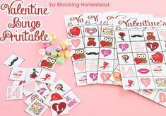 Printable Valentine Bingo Game by Blooming Homestead...would be fun for a class party!