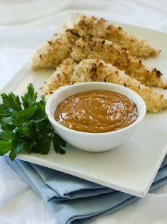 Gluten Free Coconut Chicken with Sunbutter Sauce Recipe | Simply Gluten Free